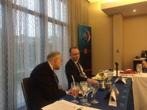 Деян Катрачев - вр. и.д. посланик на България в САЩ и Харолд Танер - член на Изпълнителното бюро на AJC, бивш президент на AJC
